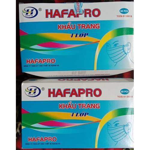 Khẩu trang y tế 4 lớp đạt chuẩn thương hiệu HAFAPRO