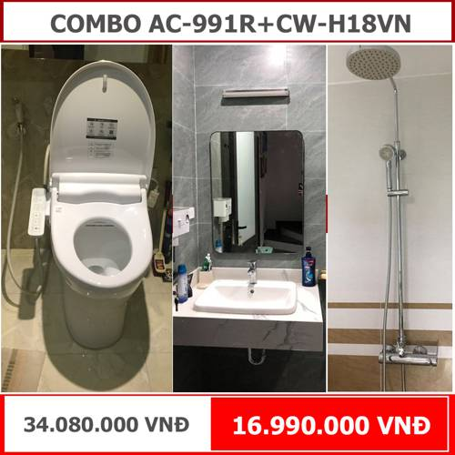 COMBO phòng tắm INAX AC-991+CW-H18VN