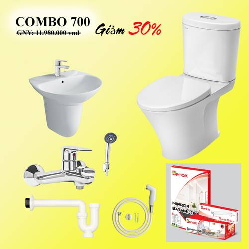 COMBO phòng tắm INAX AC-700 (1113S)