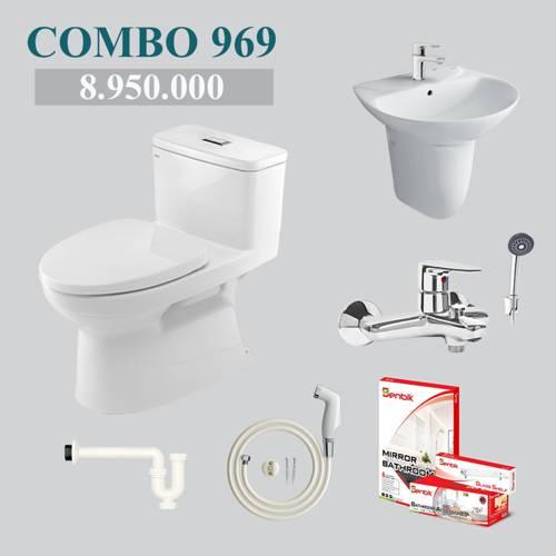 Combo 1- phòng tắm phổ thông INAX AC-969VN