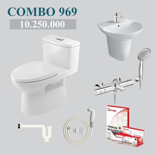 Combo 2 - phòng tắm phổ thông INAX AC-969VN