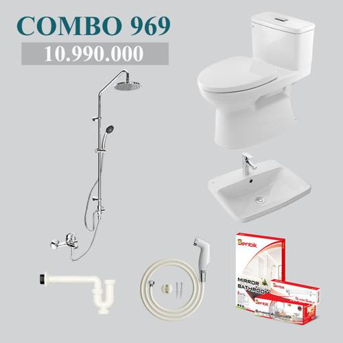 Combo 3 - phòng tắm phổ thông INAX AC-969VN