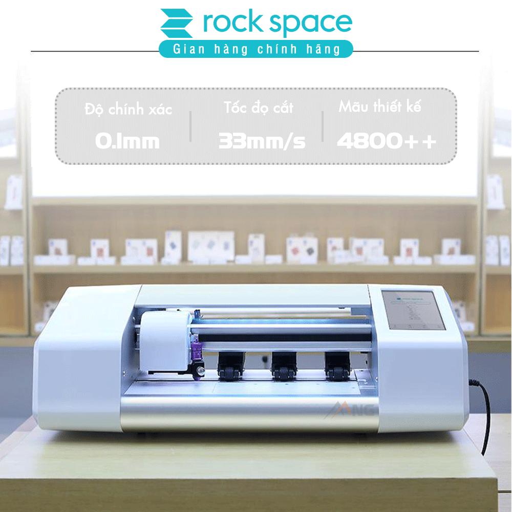 Máy cắt kính cường lực, Cắt dán lưng Rockspace cho iPhone, iPad, máy tính bảng, đồng hồ smartwatch,