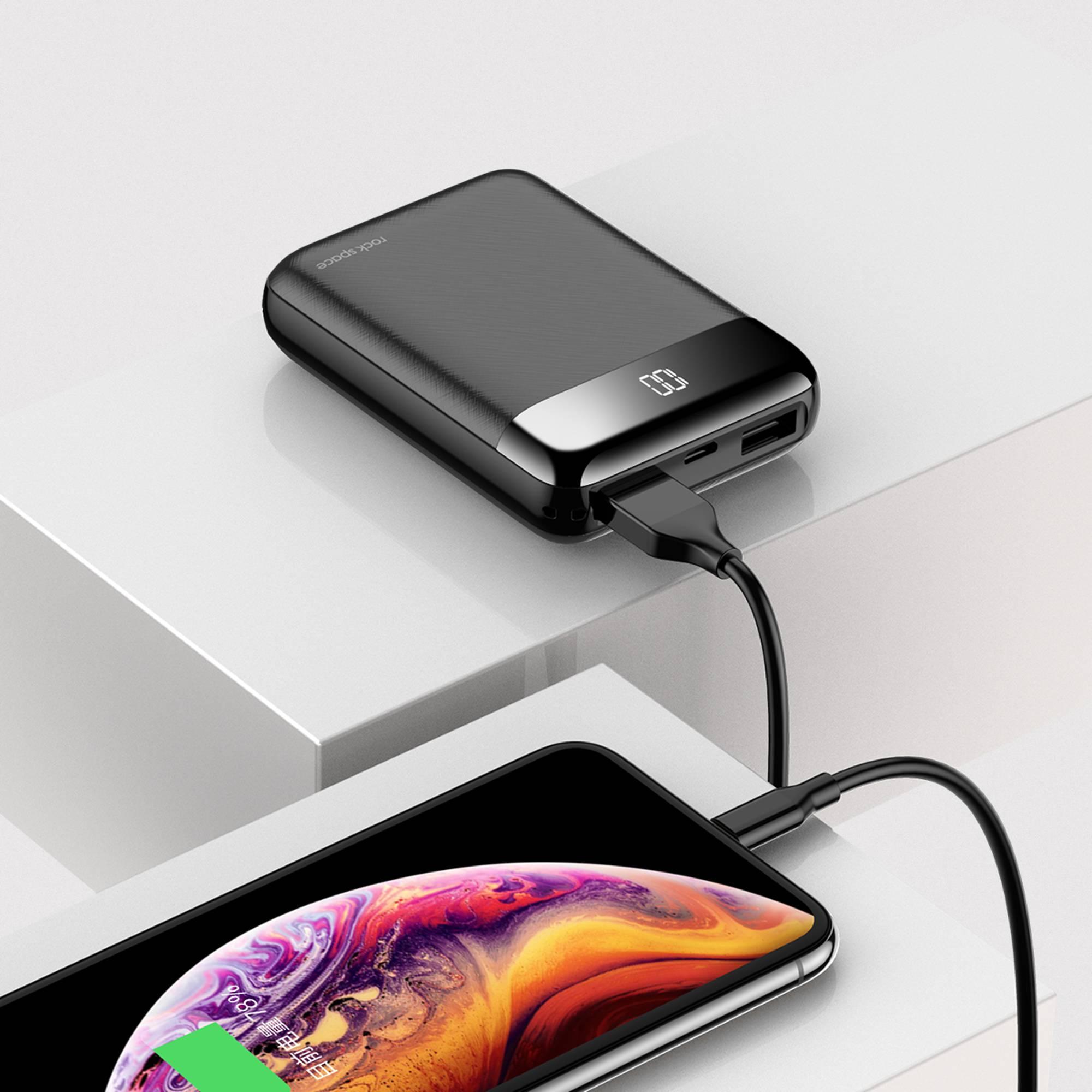Pin sạc dự phòng mini Rockspace P66 10.000 mAh sạc nhanh cho iphone, samsung