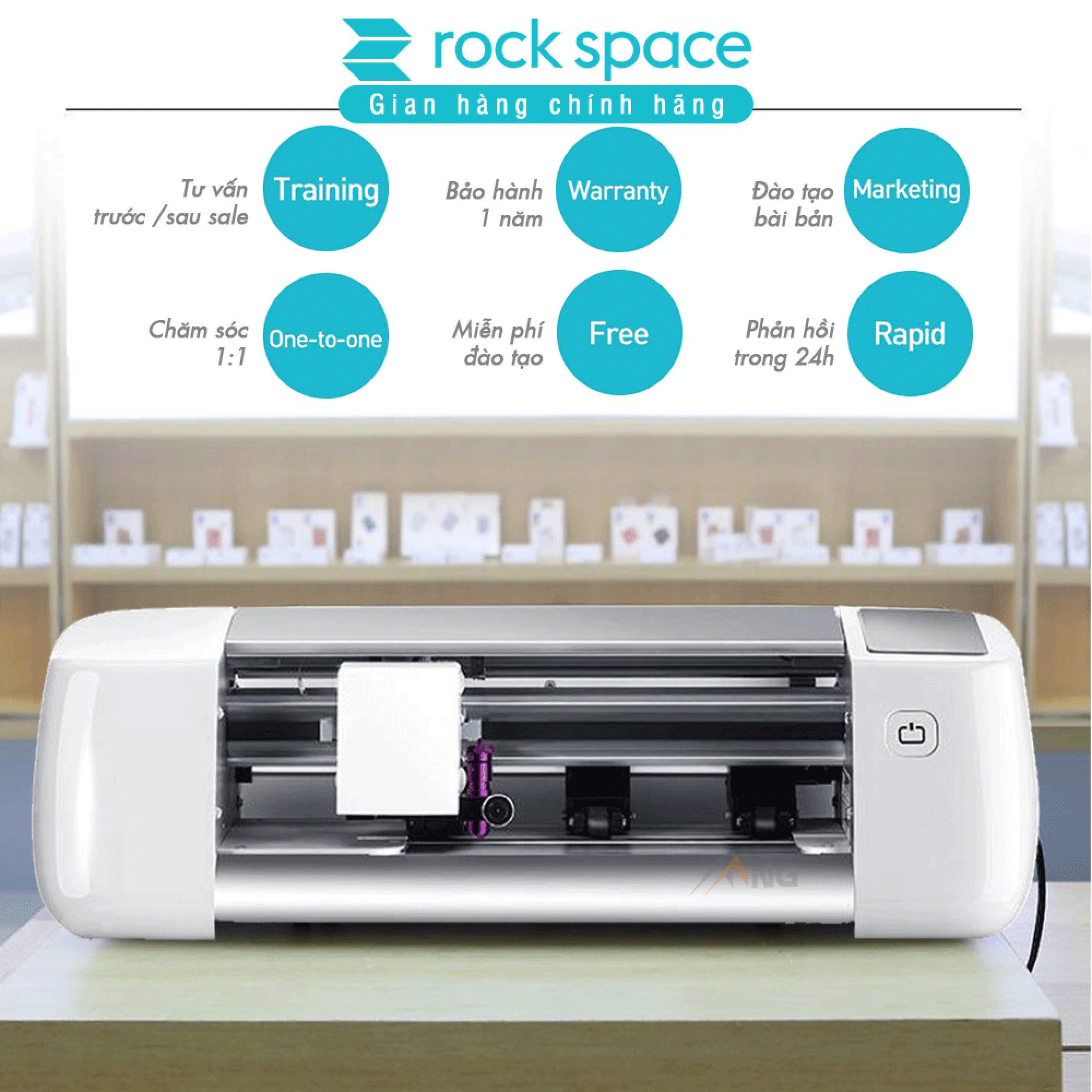 Máy cắt kính cường lực Rockspace - Phiên bản bluetooth