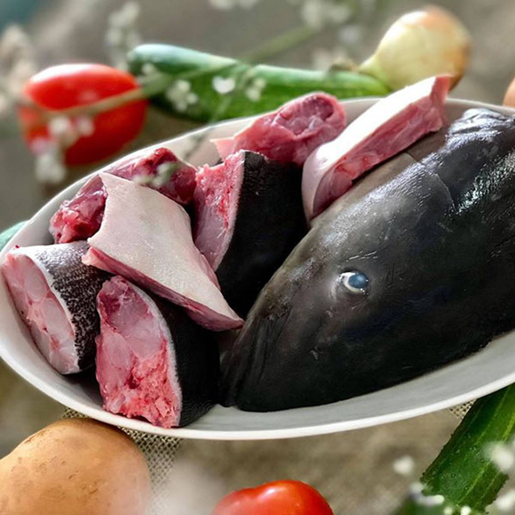 Đầu đuôi cá bóp thiên nhiên Lý Sơn
