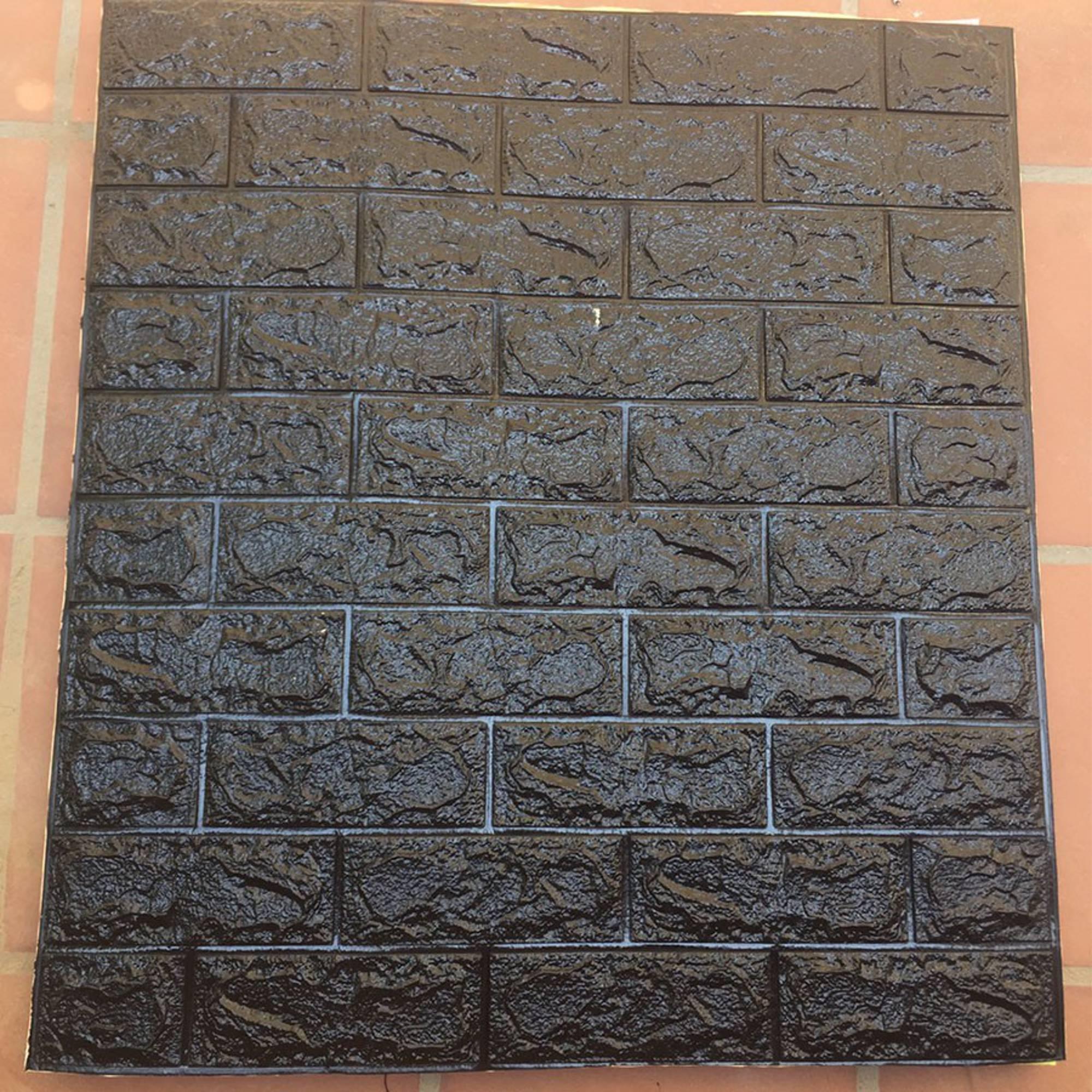 Giấy Dán Tường Giả Gạch 3D Cỡ 70 * 77Cm